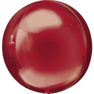 Luftballon Rot Orbz kugelrund Folie ø40cm