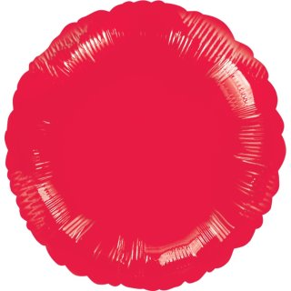 Luftballon Rot Folie ø45cm