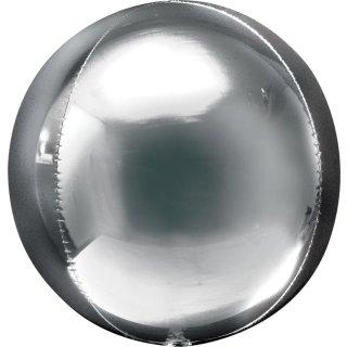 Luftballon Silber Orbz kugelrund Folie ø40cm