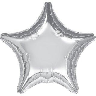 Sternballon Silber Folie ø45cm