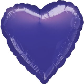 Herzballon Violett Folie ø45cm