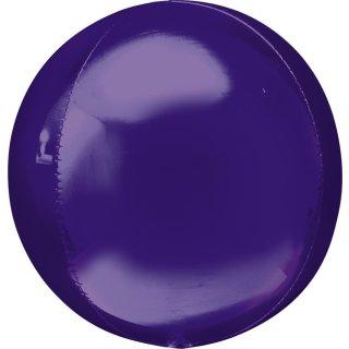 Luftballon Violett Orbz kugelrund Folie ø40cm