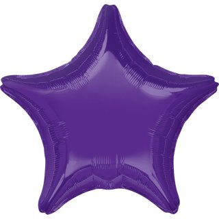 Sternballon Violett Folie ø45cm