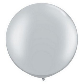 Riesenballon Silber Metallic ø55cm