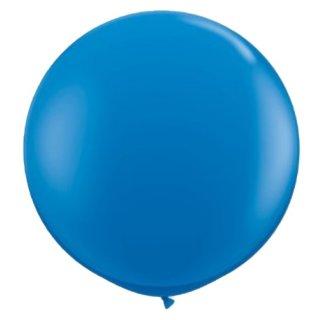 Riesenballon Blau Metallic ø80cm