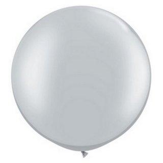 Riesenballon Silber Metallic ø80cm
