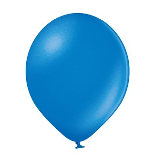 100 Luftballons Blau Metallic ø12,5cm