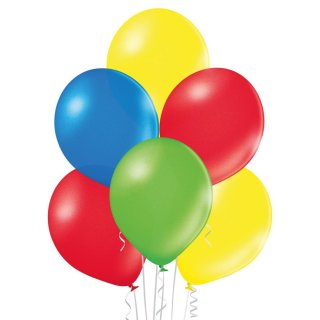 100 Luftballons Mix Metallic ø30cm