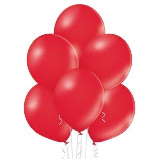 100 Luftballons Rot-Kirschrot Metallic ø30cm