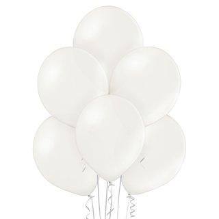 100 Luftballons Weiß Metallic ø30cm