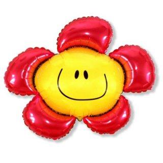 Luftballon Blume Rot Folie 104cm