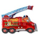Luftballon Feuerwehrauto mit Fahrer Folie 82cm