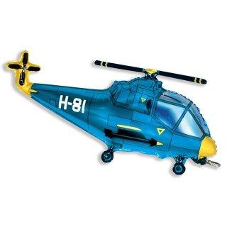 Luftballon Hubschrauber Blau Folie 99cm
