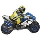 Luftballon Motorrad Blau Folie 82cm