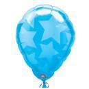Luftballon Sterne Blau Folie ø45cm