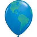 50 Luftballons Weltkugel ø40cm