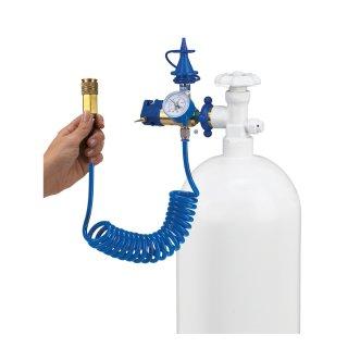 Helium-Druckventil mit Manometer und Schlauch für Abschaltautomatikventil für Folienballons Conwin