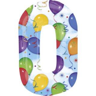 Luftballon Zahl 0 Ballons Folie ca 86cm