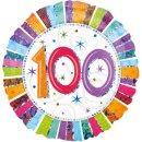 Luftballon Zahl 100 Prismatic glänzend Bunt Folie...