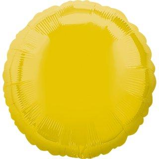 Luftballon Gelb Folie ø45cm