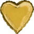 Herzballon Gold Folie ø45cm