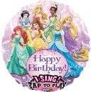 Singender Folienballon Happy Birthday PRINZESSIN ø71 cm...