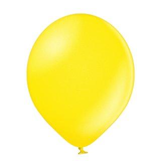 100 Luftballons Gelb-Zitronengelb Metallic ø12,5cm