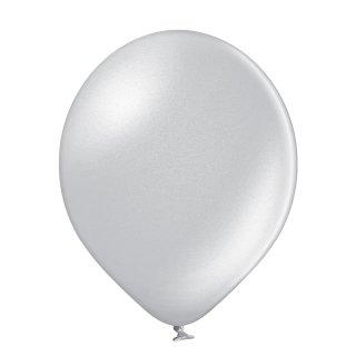 100 Luftballons Silber Metallic ø12,5cm